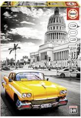 Puzzle 1000 Taxi nell'Havana Educa 17690