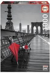Puzzle 1000 Paraguas Rojo, Puente De Brooklyn Educa 17691