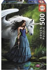 Puzzle 500 Il Lago Incantato, Anne Stokes Educa 17652