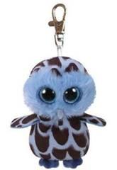 Peluche Porte-clés Yago Blue Owl 10 cm Ty 35212