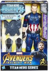 Avengers Figura Capitán América 30 cm. Y Mochila Power FX Hasbro E0607