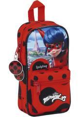 Ladybug Plumier Mochila con Portatodos y Accesorios Safta 411702747