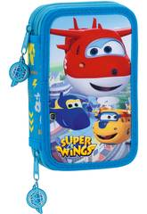 Super Wings Plumier Doble Safta 411760854