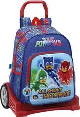 Pyjamasques Sac à Dos avec Trolley Evolution Safta 611711860