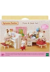Famílias Sylvanian Família Piano Set e Desk Epoch To Imagine 5284