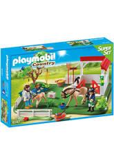 Playmobil Superset Paddock avec chevaux