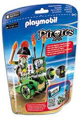 Playmobil Capitaine Pirate avec Canon Vert Interactif
