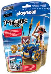 Playmobil Cañon Interactivo Azul con Pirata