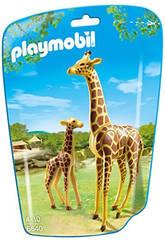 Playmobil Jirafa con Bebe