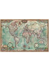 PUzzle 4000 El mundo, Mapa Político 136x96 cm EDUCA 14827