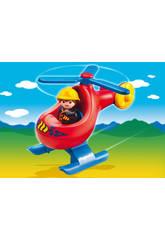 Playmobil 1.2.3 Hélicoptère De Sauvetage