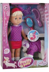 Bambola 30 cm con Cucciolo