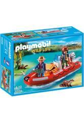 Playmobil Braconniers avec Bateau