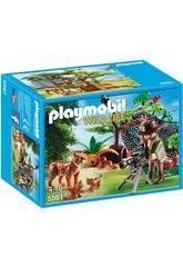 Playmobil Explorateur et Famille de Lynx