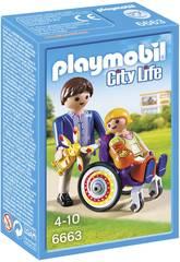 Playmobil Enfant en Chaise Roulante