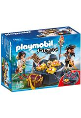 Playmobil Cachette Du Trésor Pirate