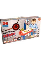 Escritorio Con Proyector Robot 24 Láminas 12x31x19cm