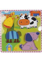 Puzzle en Bois Animaux de La Ferme