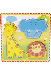 Puzzle en Bois Animaux de la Jungle