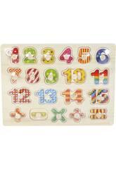 Puzzle en Bois Numéros et Signes