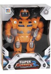 Super Robot Naranja Luces y Sonidos 25x19x7cm
