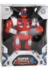 super Rot Robot Lichter und Töne 25x19x7cm