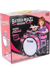 schlagzeug Rosa Jazz 5 Schlagzeug und Becken