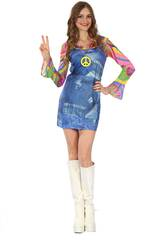Disfraz Hippie Vaquera Mujer Talla M