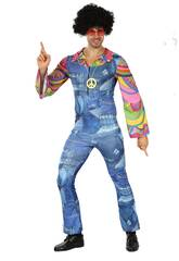 Déguisement Hippie Jean pour Homme Taille M