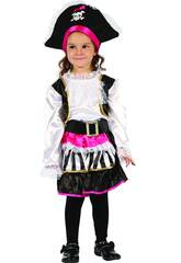 Disfraz Pirata Chica Bebé Talla M