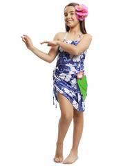 Déguisement Enfant M Princesse Hawaienne