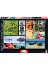 Puzzle 1000 Couleurs de l'Asie