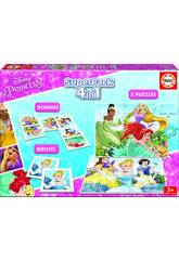 Educa Superpack 4 in 1 Disney Princess