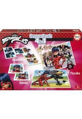 Superpack Miraculous Ladybug Educa 17259