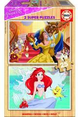 Puzzle 2x25 Principesse disney
