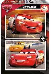 Puzzle 2X48 Cars 3 Educa 17177