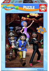 Puzzle 200 Super 4 Playmobil
