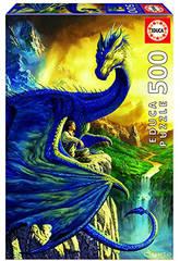 Puzzle 500 Eragon And Saphira Ciruelo 34x48 cm EDUCA 17311