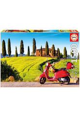 Puzzle 1500 Moto En La Toscana