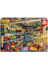 Puzzle 2000 Lebensmittelladen Educa 17128