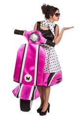 Costume Donna Bella sulla Vespa