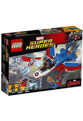 Lego SH La Poursuite en Avion du Capitaine America