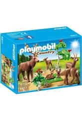Playmobil Familia de Ciervos 6817