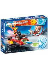 Playmobil Action Magma con Lanciadischi 6834