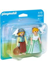 Playmobil Duo Pack Prinzessin und Farmerin 6843