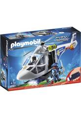 Playmobil Helikopter Polizei mit Lichtern Led 6921