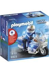 Playmobil Polícia Com Moto e Luzes Led 6923