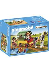 Playmobil Enfants avec Chariot et Poney 6948