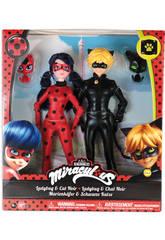 Miracolous LadyBug 2 figure LadyBug e Cat Noir