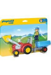 Playmobil 1,2,3 Trator com Reboque